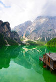Lago di Braies - Sudtirol, Италия стоковые фотографии rf
