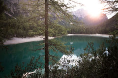 Lago di Braies Royalty Free Stock Photos