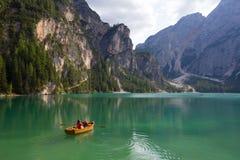 Lago di Braies Royalty Free Stock Images