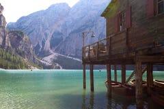 Lago di Braies Stock Photography