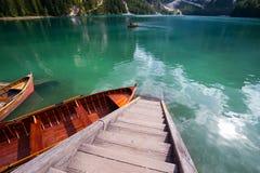 Lago di Braies Stock Images