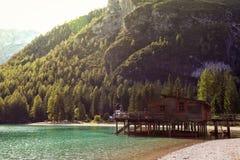 Lago di Braies Stock Photos