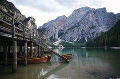Lago di Braies Royalty Free Stock Photography