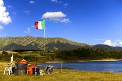 Lago di Campotosto. Campotosto lake, and Monti della Laga (Aquila) - Italy Royalty Free Stock Image