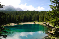 Lago di Carezza Stock Photos