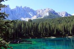 Lago di Carezza Immagine Stock