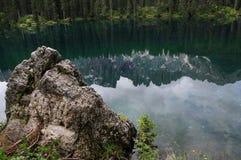 Lago di Carezza Karersee, a Beautiful Lake in the Dolomites, Trentino Alto Adige. Italy stock photos