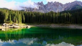 Lago di Carezza stock footage