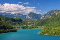 Lago di Cavazzo Стоковое Изображение RF