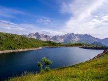Lago di Cavia - dolomia - l'Italia Fotografia Stock Libera da Diritti