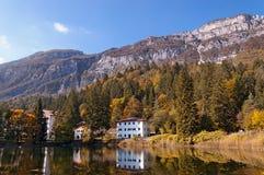 Lago di Cei - Trentino Alto Adige Italy. Lago di Cei (Cei Lake), small alpine lake in Italian Alps in autumn. Trento, Trentino Alto Adige, Italy, Europe royalty free stock images
