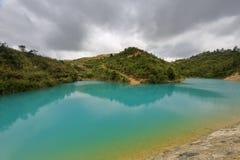 Lago di colore di Qicaichi sette Immagini Stock Libere da Diritti