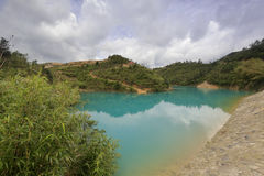 Lago di colore di Qicaihu sette Immagini Stock