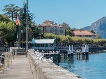 Lago di como di Bellano Italia Fotografie Stock Libere da Diritti