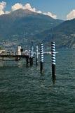 Lago di Como boat pier. Stock Image