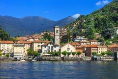 Lago di Como, città di Torno Fotografia Stock