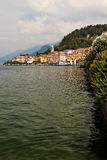 Lago di Como coastline town. Stock Photos