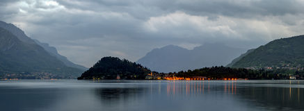 Lago di Como high definition landscape with Bellagio Royalty Free Stock Photos