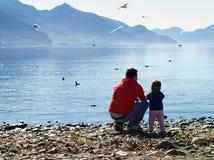 Lago di Como - l'Italia fotografia stock