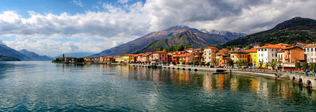 Lago di Como (Lake Como) Gravedona panoramic view Stock Photography