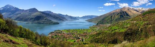Lago di Como (Lake Como) high definition panorama Stock Photography