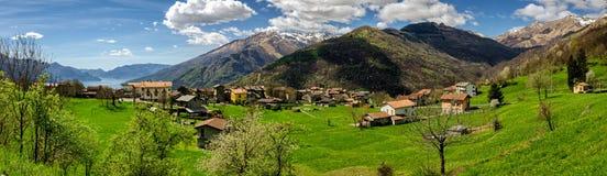 Lago di Como (Lake Como) high definition panorama Stock Image