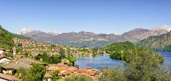 Lago di Como (Lake Como) high definition scenery Stock Images