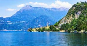Lago di Como and Varenna village, Italy Stock Photo