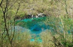 Lago di Cornino在春天 库存照片