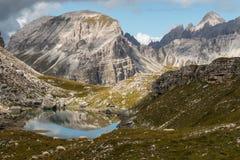 Lago di Crespeina lake in Dolomites Royalty Free Stock Photos