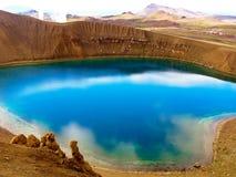 Lago di cristallo blu Fotografia Stock