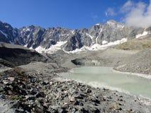 Lago di d'Arsine del ghiacciaio Fotografie Stock