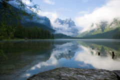 Lago di Dobbiaco Royalty Free Stock Image