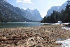 Lake of Dobbiaco Royalty Free Stock Photo