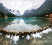 Lago di Dobbiaco oder Toblacher sehen in Italien Stockfoto