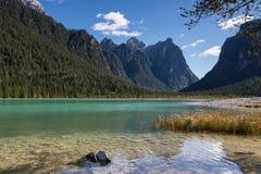 Lago di Dobbiaco at Toblach Stock Photos