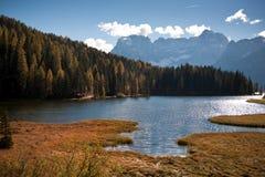 Lago di Dobiacco Images stock