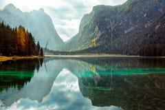 lago di Dobiacco 库存图片