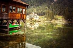 Lago di Dobiacco Fotos de Stock Royalty Free