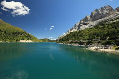 Lago Di Fedaia fotografia de stock royalty free