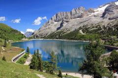 Lago di Fedaia fotografia stock libera da diritti