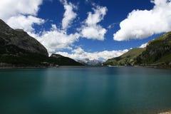 Lago di Fedaia Imagen de archivo libre de regalías