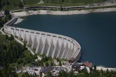 Lago di Fedaia, Italian Dolomites Royalty Free Stock Image