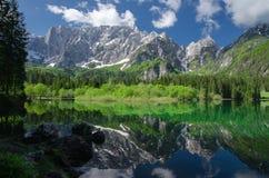 Lago Di Fusine Zdjęcie Royalty Free