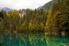 Lago di Fusine - Friuli Italia Fotografia Stock