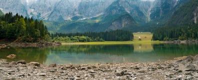Lago di Fusine - Friuli Italia Fotografie Stock