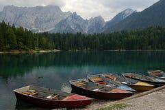 Lago di Fusine - Friuli Italia Immagini Stock Libere da Diritti