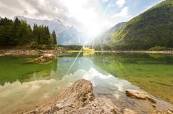 Lago di Fusine - Friuli Italy Royalty Free Stock Photography