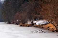 Lago di Fusine nell'inverno - Friuli Italia Fotografia Stock