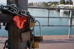 Lago Di Garda και η πόλη Sirmione Στοκ Φωτογραφίες